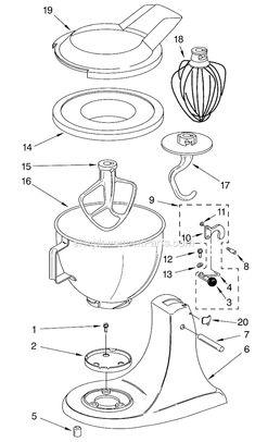 Kitchenaid Food Mixer K4 B Maintenance And Repair Manual