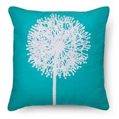 Embroidered Dandelion Throw Pillow - Blue - Room Essentials™ : Target
