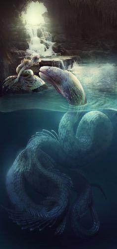 Matron by acheronnights on DeviantArt Fantasy Creatures, Mythical Creatures, Sea Creatures, Fantasy Mermaids, Mermaids And Mermen, Mermaid Drawings, Mermaid Art, Dark Fantasy, Fantasy Art