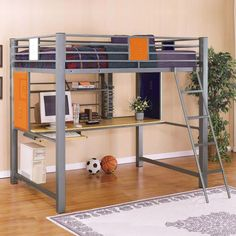 Powell Locker Room - Style Full Study Loft Bed