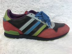 RARE Men's Adidas ZXZ+ Athletic Sneakers Shoes Multi Colored US Size 9.5 Bin 2 #adidas #AthleticSneakers