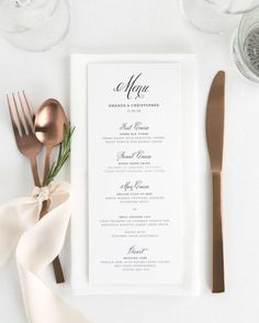 Wedding Design Glam Monogram Wedding Menus - Compliment your wedding reception with these timeless wedding menus. Matches our Glam Monogram suite. Perfect for wrapping in a napkin or placing on the center of plate. Wedding Dinner Menu, Wedding Menu Cards, Wedding Stationary, Wedding Programs, Wedding Table, Wedding Buffet Menu, Simple Wedding Menu, Wedding Wishes, Wedding Gifts