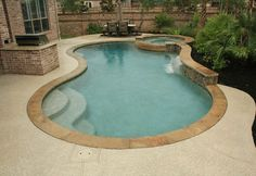 Natural Free Form Swimming Pools Design 187