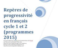 Programmes 2016 : repères de progression par cycle