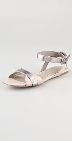 elizabeth and james paige flat metallic sandals