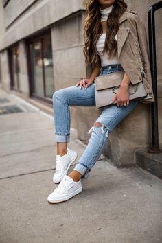 e073291f120 3 Ways to Style Sneakers This Season  fashion blogger mia mia mine wearing  reebok club