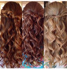 long, curly formal hair idea