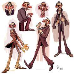 Huguette Pizzic - character design