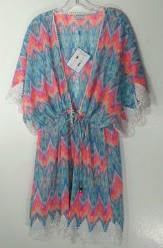 BLUE ISLAND COVER-UP / TUNIC  3X 26-28 PLUS SIZE TOP NWT NEW #BLUEISLAND #Tunic…