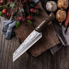 7.6inch Handmade Forged Kitchen Knife Butcher Meat Chopping Cleaver Chinese Chef Knife 5CR15 Stainless Steel Forging Knives, Forged Knife, Chopping Knife, Salmon Sashimi, Best Kitchen Knives, Butcher Knife, Handmade Kitchens, Handmade Knives, Chef Knife