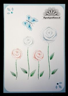 The Latest Trend in Embroidery – Embroidery on Paper - Embroidery Patterns Embroidery Cards, Learn Embroidery, Embroidery Stitches, Embroidery Patterns, Pin Card, Sewing Cards, Christmas Tree Pattern, Card Patterns, Embroidery Techniques