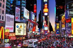 times square  NEW YORK dream places, time squar, squares, sunset, times square, new york city, street lights, bucket lists, york citi