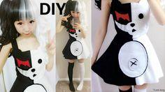 DIY Halloween Costume:  Half White and Half Black Evil Bear Costume Insp... IN CONSIDERATION