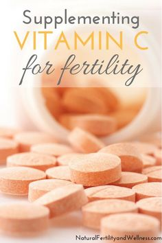 Using vitamin C for fertility can have a positive effect - higher progesterone levels for her, healthier sperm for him. Find out how much you need to take. #FertilityDiet,