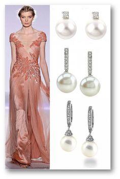 Una combinación perfecta: Zuhair Murad primavera-verano 2013 y   Pendientes de Joyeria-Harmony.com // A perfect combination: Zuhair Murad and Joyeria-harmony.com Earrings