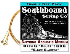 Acoustic Medium 3String Cigar Box Guitar Strings  Low Open G -- Learn more by visiting the image link.Note:It is affiliate link to Amazon. Cigar Box Guitar, Acoustic Guitar Strings, Guitar Chords, Open D Tuning, Bound For Glory, Lap Steel Guitar, Power Chord, Homemade Instruments, Honky Tonk