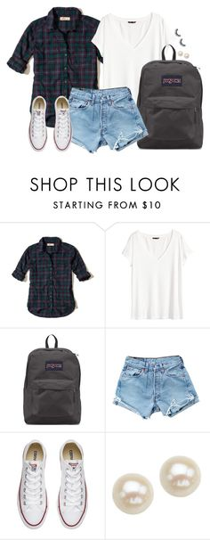 """Warmer days"" by aweaver-2 on Polyvore featuring Hollister Co., H&M, JanSport, Levi's, Converse and Honora"
