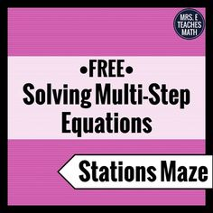 Stations mazes are great because they get students up and moving around the room. They also encourage students to check their work carefully since an incorrect answer will eventually send them back to a problem they have already solved. Successfully completing the maze requires students to slow down and check their work.This activity can be completed individually or in pairs.