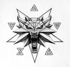 os 5 sinais e o simbolo da escola do lobo do jogo witcher 3 q eu adoro, esses sao os 5 sinais pra por na faixa vou por mais imagens dele