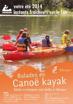 balade en canoë sur Le Loir au départ de Briollay et de Villevêque Rens. et réservations au 06 76 29 73 66