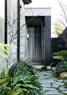 B.E Architecture often reconfigures a period home to have a side entry which allows a visitor to experience original building. The side entry also brings you into the heart of the new house.