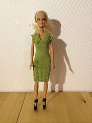 Ravelry: #0268 Pink dress pattern by stickatillbarbie.se