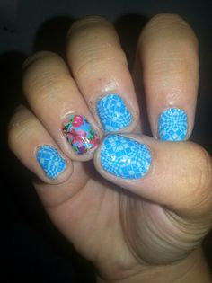 Application #45 WILD FLOWERS and June 2014 hostess exclusive Jamberry Nail Wraps