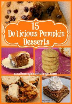 15 Delicious #Pumpkin #Desserts Recipes