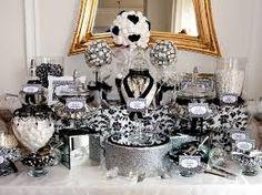 lolly buffet black silver white - Google Search