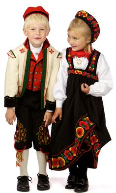 Norwegian children's folk costume from Hallingdal, based on 19th Century design
