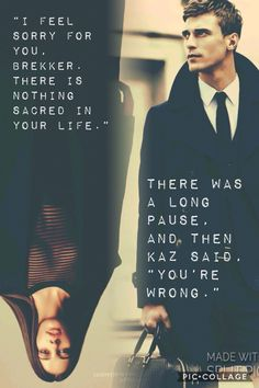 Kaz and Inej are my life! This is one of the most powerful quotes ah I adore it so! ✨