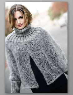 Baby Knitting Patterns, Knitting Designs, Knitting Yarn, Knitted Afghans, Knitted Poncho, Crochet Woman, Knit Crochet, Crop Pullover, Outlander Knitting