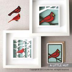 Cardinal wall art