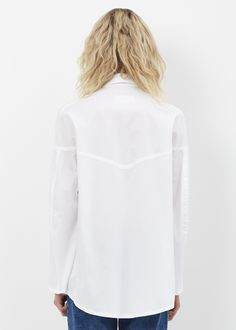 MM6 Maison Margiela Poplin Western Detail Shirt (White)
