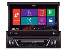 """DVD Automotivo Leadership Retrátil 7"""" Touch Screen - Entrada Auxiliar e USB com…"""