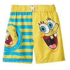 SpongeBob SquarePants Stripe Swim Trunks - Toddler Boy