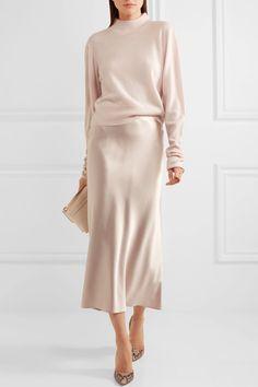 Calvin Klein Off-white silk-satin Button fastenings along side 100% silk Dry clean Designer color: Quartz Made in Italy