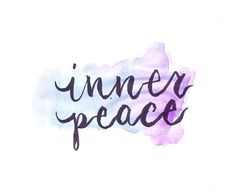 find inner peace.