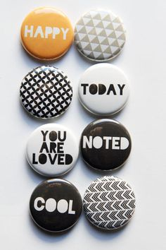 These are one inch flair buttons. There are 8 buttons in this set. Colors coordinate with PL Midnight collection but will work for all types of projects. Christmas Wishes, Christmas Photos, Button Maker, Project Life, Work Project, Decoupage Art, Happy Today, Snowflake Designs, Glitter Cardstock