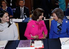 Queen Sofia of Spain, Queen Silvia and pregnant Princess Sofia attended second session of Dementia Forum X at Stockholm Royal Palace Princess Sofia Party, Princess Sofia Of Sweden, Stockholm, Pregnant Princess, Prince Carl Philip, Camping Parties, Queen Silvia, Soccer Party, Swedish Royals