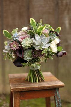 Lavish and Unique Bridal Bouquet Ideas. To see more: http://www.modwedding.com/2014/10/02/lavish-unique-bridal-bouquet-ideas/ #wedding #weddings #bridal_bouquet Featured Florist: Floral Verde LLC;