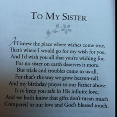 Sister Poems Affordable Inspirational Poem For Sister Birthday