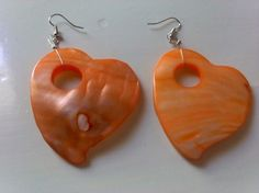 summer orange hearts/ summer / ready to by KaterinakiJewelry Hearts, Trending Outfits, Drop Earrings, Crafty, Unique Jewelry, Orange, Handmade Gifts, Friends, Spring