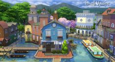 Mod The Sims: Small Venice by Aya20 • Sims 4 Downloads