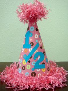 Half Birthday Hat Happy Tree 2nd Cards