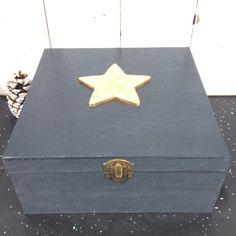 Gold leaf embellished star box
