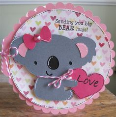 Purple Monkey Moments: Be My Valentine - Cricut Create a critter. Valentine Day Cards, Valentine Crafts, Be My Valentine, Decoration Photo, Create A Critter, Cricut Cards, Get Well Cards, Cricut Creations, Kids Cards