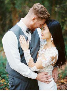 Bohemian River Elopement | Martina Liana wedding dress