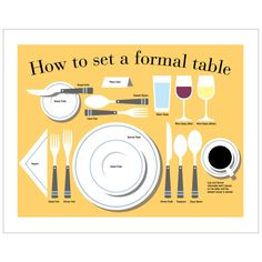 Kitchen Art Gift Table Manners Kitchen Decor Etiquette Art Print. $18.00, via Etsy.