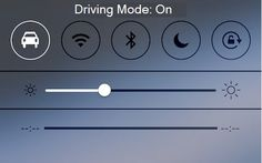 Driving mode is easily accessed from the quick reference screen and can be quickly turned on as one enters their vehicle.